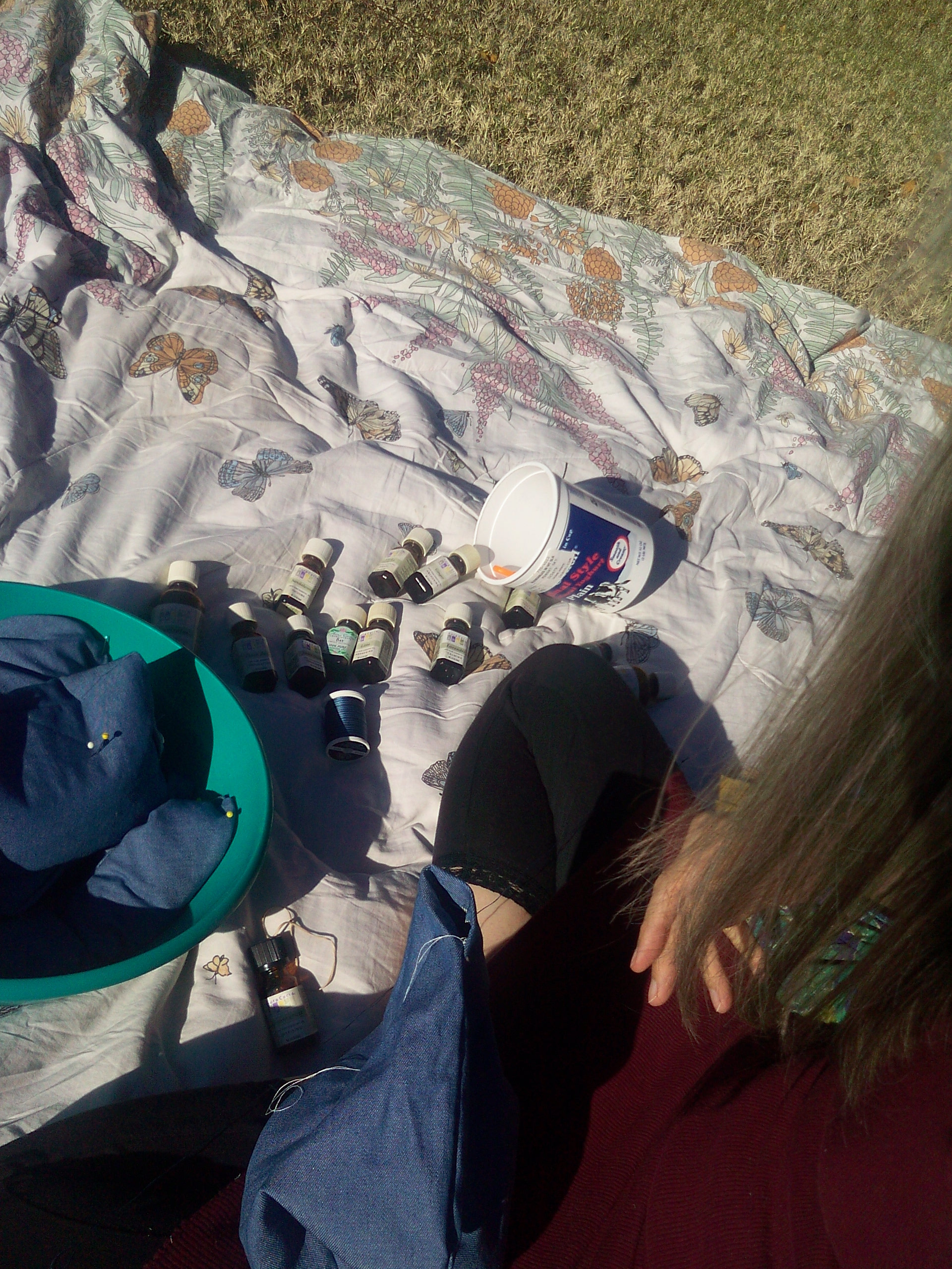 sitting-in-sun-sewing-aromatherapy-packs