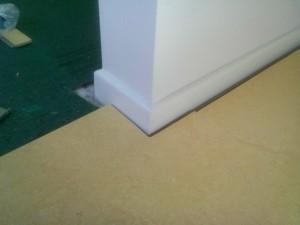 marmoleum floor edge